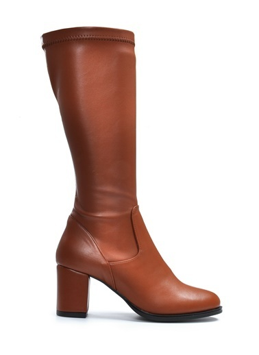 Vizon Ayakkabı Çizme Taba